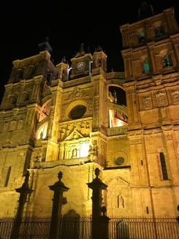 The Cathedral at night.